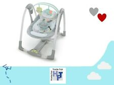 Ingenuity tragbare Baby Schaukel Hugs Hoots 5 Schaukelgeschwindigkeiten Wippe