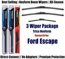 3-Pack Wipers Front & Rear NeoForm - fit 2013+ Ford Escape - 162813x2/11G