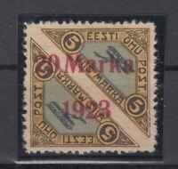 AY5567/ ESTONIA – AIRMAIL – MI # 44A MINT MH SIGNED – CV 950 $