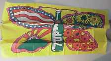 RARE VINTAGE PSYCHEDELIC 7UP BUTTERFLY PAT DYPOLD QUILTED TABLECLOTH