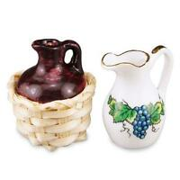 DOLLHOUSE Woven Wine Jug & Pitcher Set Reutter 1.847/8 Miniature 1:12 gemjane