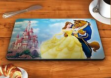 Beauty and the beast castle disney glass chopping cutting board food kitchen