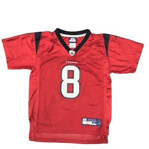 Reebok Houston Texans Carr #8 Red Jersey Youth Large 7 20 in. long 16 in. wide