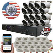 Sikker Standalone 16 Ch Channel DVR 1080P Security Camera System 2TB hard drive