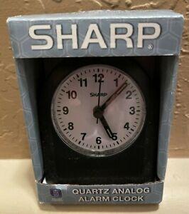 Sharp Quartz Analog Alarm Clock with Ascending Alarm NEW!