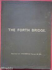 The Forth Bridge, 156 illustrations 19 plates, Construction Pont, Westhofen 1890