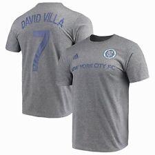 David Villa New York City FC adidas Gray MLS Player Tee Adult Large T-Shirt