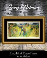 Leroy Neiman Signed - The Big 5 Africa Animals Litho NEWLY CUSTOM FRAMED