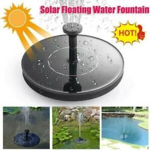 Bird Bath Solar Fountain Powered Water Pump Floating Outdoor Pond Garden Pool **
