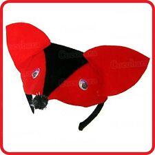 RED FOX HEADBAND HAIRBAND WITH EARS+NOSE- DRESS UP SET-COSTUME