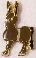Hat Lapel Pin Scarf Clasp Animal Brown Donkey NEW