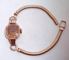 BULOVA 14K Rose Pink Gold Ladies Wristwatch Watch Non-Working 14KT 12.7 grams