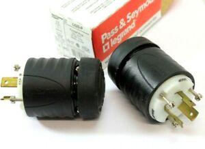 (2) Pass & Seymour L620-P 20A 250V Male Twist Lock Power Cord Plugs