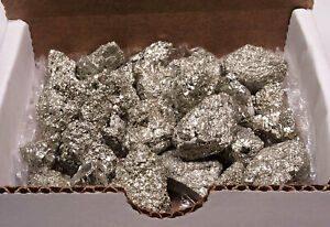 Iron Pyrite Collection 10 Oz Natural Small Chispa Crystals Fools Gold