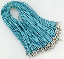 Wholesale Bulk 10 pcs Blue Suede Leather String 20 inch Necklace Cords