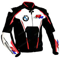 BMW MOTORCYCLE LEATHER JACKET MEN RACING BIKER MOTORBIKE JACKET CE ARMOUR