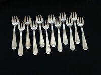 Silver Oyster Forks Salad Cake French Flatware Silverware Seafood Art Deco