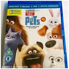 2016 The Secret Life Of Pets 3D Blu-Ray Disc ONLY In Box Film Movie Kevin Hart