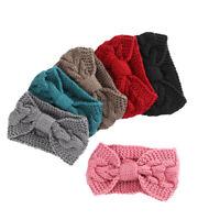 Ladies Winter Warmer Knitted Headband Headwrap Charm Crochet Bowknot Hairband