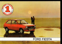 depliant  publicitaire FORD FIESTA 1978