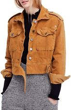 NWT Free People Everlyn  Supersoft Corduroy Jacket Mustard  S $148