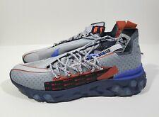 Nike React ISPA Mens Running Shoes Wolf Grey Sapphire 10.5