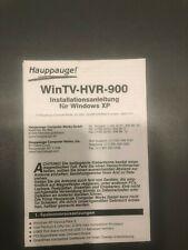 Hauppauge! WinTV-HVR-900 Installationsanleitung