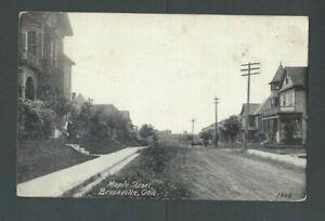 Ca 1921 Post Card Brookville OH Maple Street
