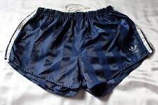Adidas Glanz Nylon Shorts, Größe D6, dunkelblau/weiß, gestreift, Zustand gut