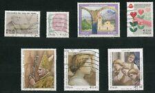 ITALIA 2005 - 7 francobolli - USATI (come da foto)