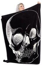Sourpuss Skull blanket alternative goth punk rock metal home baby gift halloween