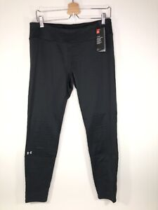 Under Armour Cold Gear Base 4.0 Base Layer Leggings Black Fitted Women's Large L