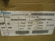 SIEMENS 1LE22212BB114EA3 MOTOR 15HP  + MAGNETIC STARTER  (NEW)
