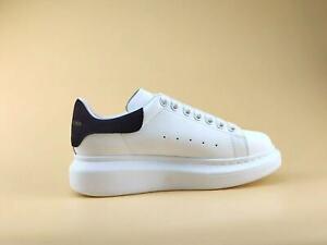 Alexander McQueen Men's White(Black cashmere tail) Comfortable shoes