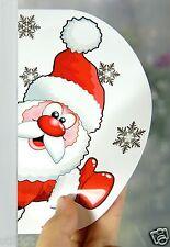 2 X Adesivo Riutilizzabile Decorazione Babbo Natale Fiocchi di neve Self aggrapparsi Window NT z8