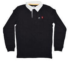 Custom Fit Small Pony Ralph Lauren Long Sleeve Rugby Polo T Shirt for Men Black Large