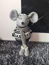 Dekoration Figuren Handarbeit Maus  Metal Beine Rest Aus Stoff Handmade