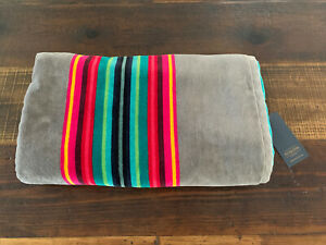 NWT Pendleton Spa Pool Beach Oversize 40 X 70 Serape Grey Gray Stripe Towel
