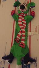 """FatCat Incredible Strapping Flip Flop Yankers Dog Toy 13"""" flat Christmas Holiday"""