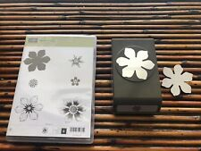BEAUTIFUL BUNCH  STAMP & LARGE FUN FLOWER PUNCH Stampin Up FLOWER