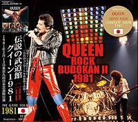 New QUEEN 1981 ROCK BUDOKAN II 2CD TOKYO JAPAN February 13, 1981