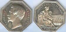 Jeton argent - PARIS agents de change 1853 d=36,5mm poids=22 gramme NAPOLEON III