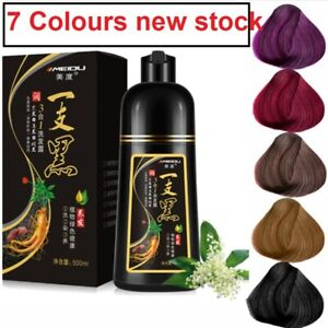 500ml Natural Wine Red Purple Hair Color Shampoo Black  Hair Removal for unisexs