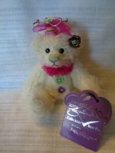Annette Funicello Collectible Bear Co. Buttons Bear  - WITH TAGS / BUTTON IN EAR