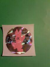 vintage 80's sandylion prism music bunny sticker *restored*(free ship $20 min)
