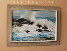 """SWIRLING SEA!"" MAGICAL MID CENTURY CONKLIN ORIG OIL PAINTING! FINE ART 50s BLUE"