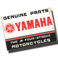 Yamaha Genuine Motorcycle Parts Reproduction 8x12 Inch Aluminum Sign