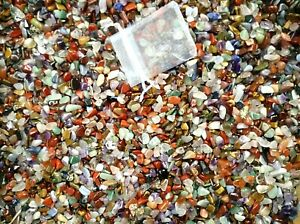 Crystals X Small (pea size) 5-10mm Mixed Polished Crystals Chips 25g~1kg