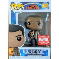 Funko Pop Nick Fury With Goose The Cat ( Captain Marvel) Marvel Collectors Corp