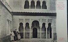 ANTIGUA POSTAL LA ALHAMBRA PATIO ARABE TALLER GRANADA ANDALUCIA POSTCARD CC03768